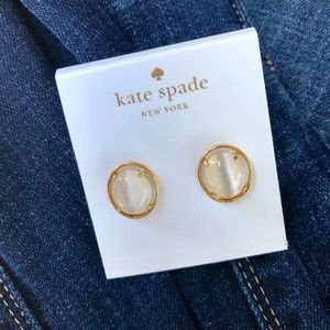 Kate Spade NY Small Oval  Faceted Stud Earrings